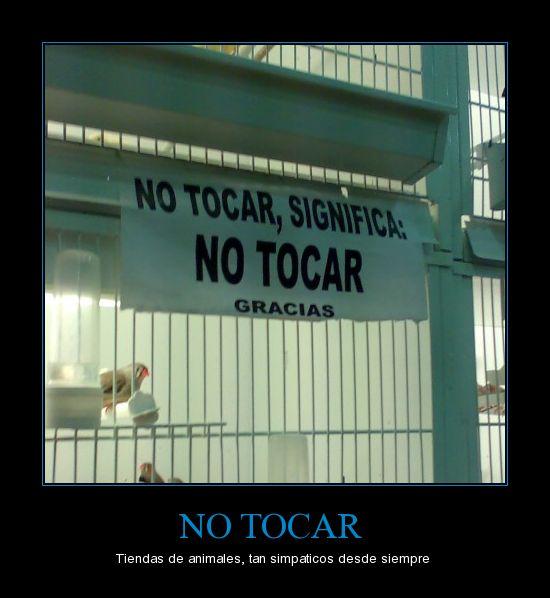 no-tocar