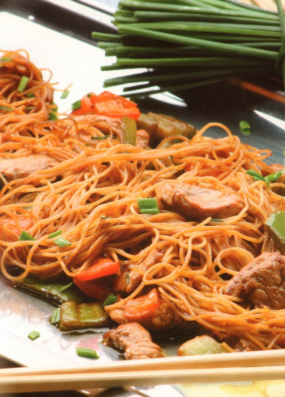 fideos chinos ternera receta pasta