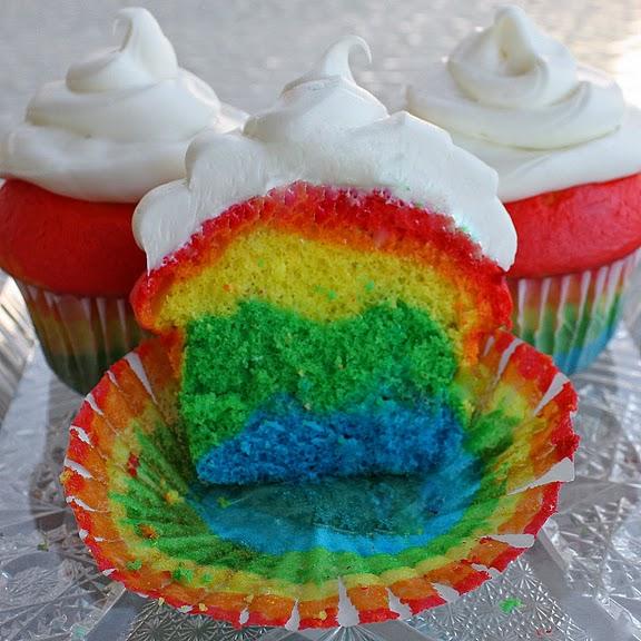 cupcake arco iris