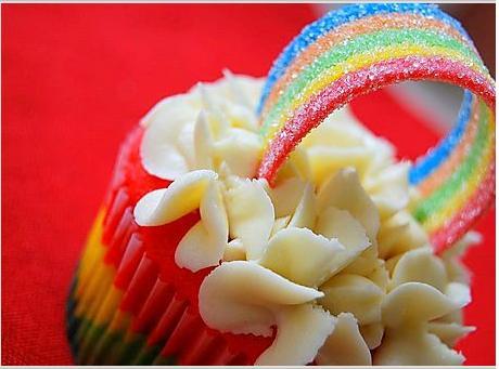 cupcakes arcoiris decoracion