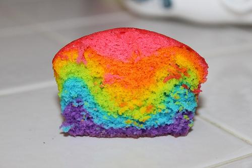 cupcakes arcoiris receta