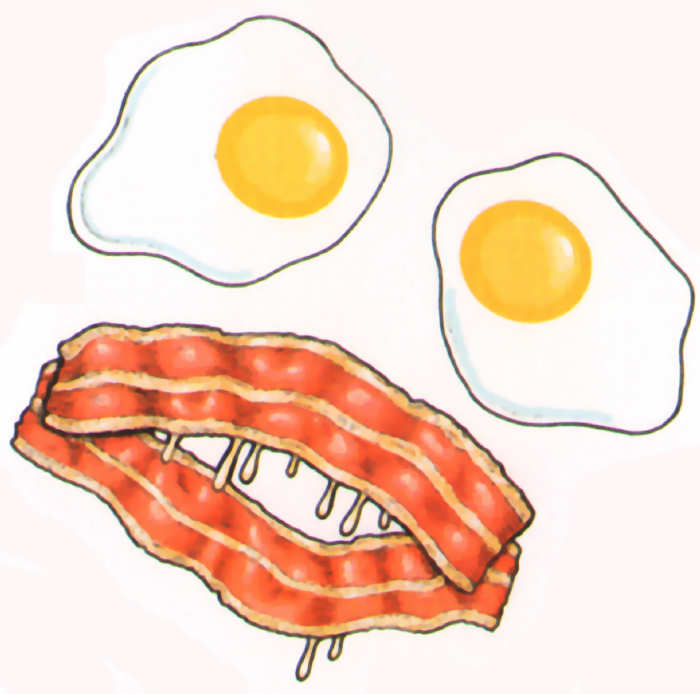 huevos bacon halloween terror