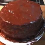Pastel de chocolate, cumpleaños de Rosana