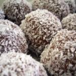 Bolas de chocolate con coco