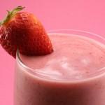 Batido de fresas con yogur