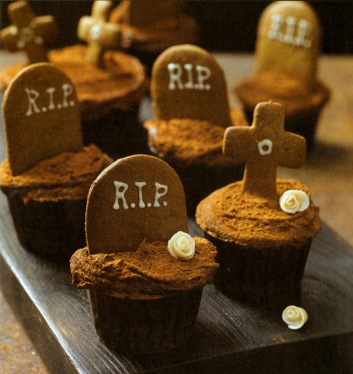 cupcakes cementerio jengibre