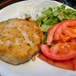 Hamburguesa de bacalao y patata light