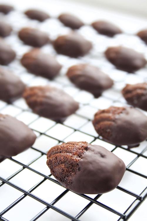 madeleines cubiertas chocolate receta
