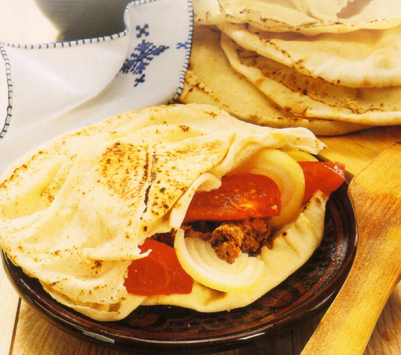 pitas receta pan carne verduras