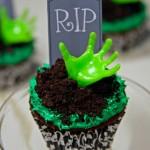Cupcakes Manos de Zombi