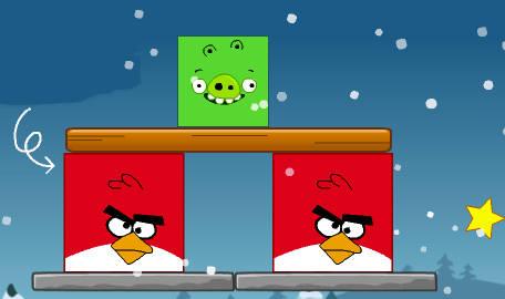 Juego Angry Birds y cerditos  La cocina de Bender