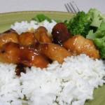 Pavo a la naranja con arroz integral