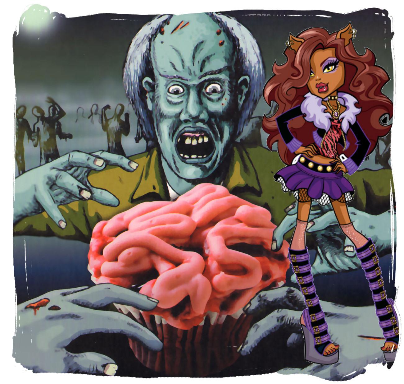 clawdeen wolf cupcakes cerebros ensangrentados