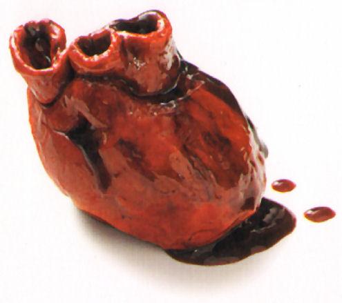 corazon ensangrentado sangre