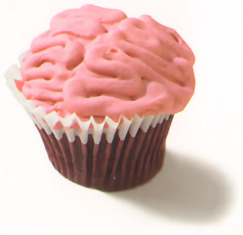 cupcake cerebro rosa