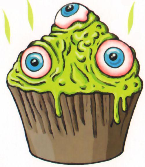 cupcakes baba radioactiva ojos