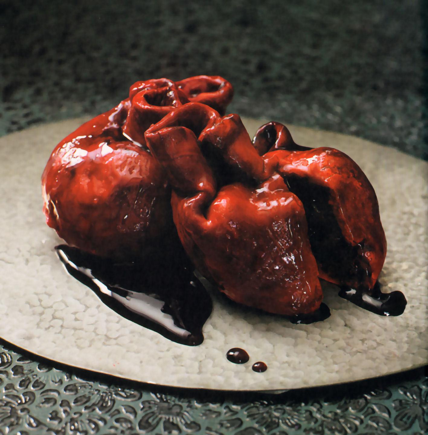 cupcakes corazones sangrientos