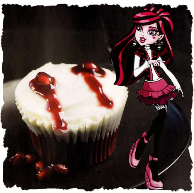 cupcakes draculaura besos dracula