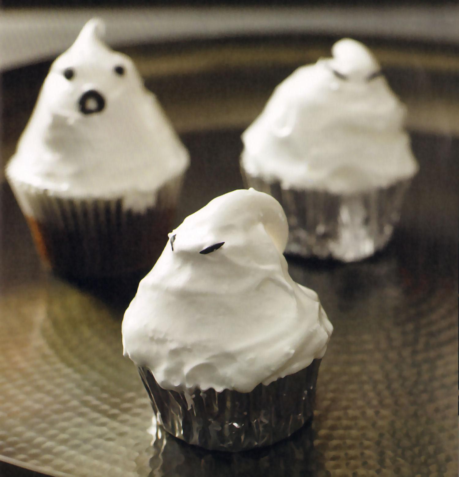 cupcakes merengues fantasmales