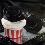 Cupcakes Rosas Negras