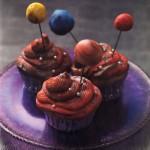 Cupcakes Sistema Solar de frambuesa
