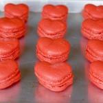 Macarons de terciopelo rojo