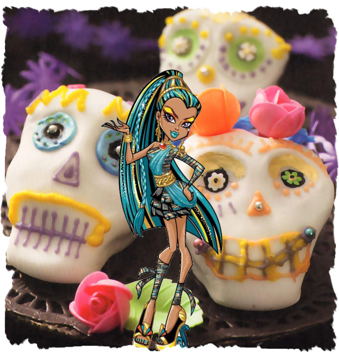 nefera de nile Cupcakes Calaveras de Todos los Santos