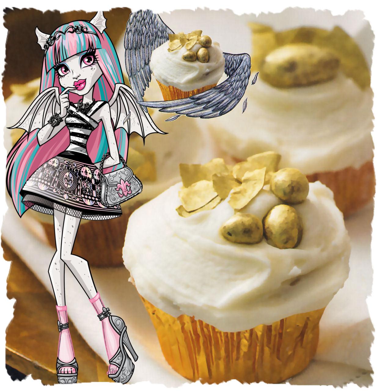rochelle goyle Cupcakes Pastel de Angel Caido