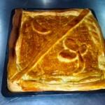 Empanada de langostinos y setas