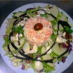 Ensalada de surimi y manzana