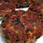 Hamburguesa de espinacas y carne
