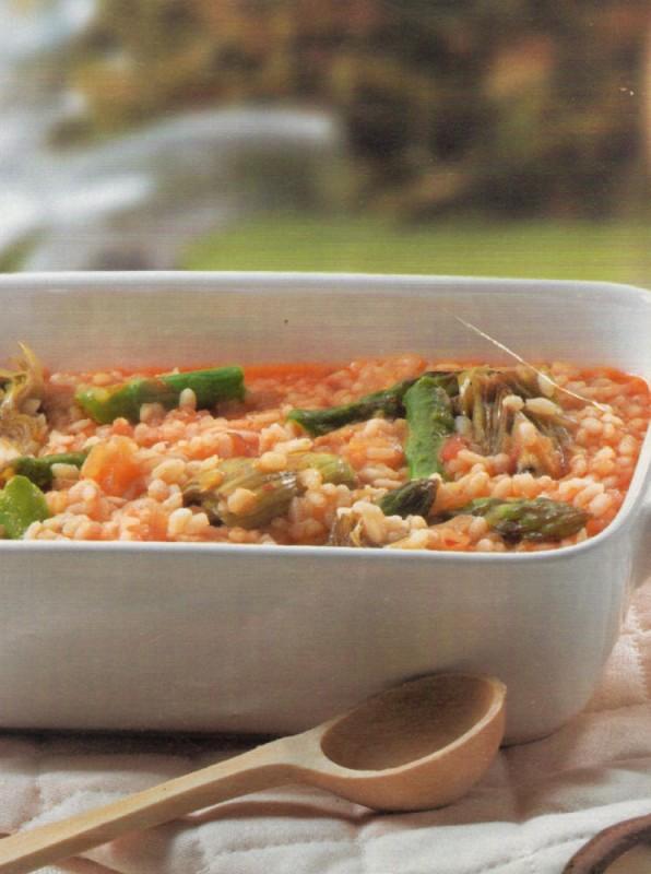 arroz caldoso trigueros alcachofas