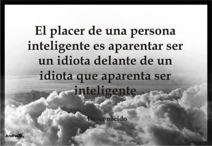 el placer de ser inteligente