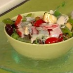 Ensalada de verduras con salsa cuatro quesos