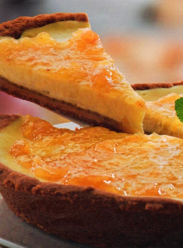 pastel queso pera jengibre
