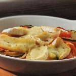 Verduras asadas con camembert