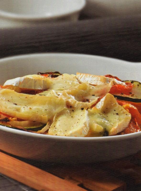 verduras asadas camembert