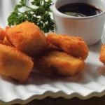 Taquitos de pollo con jengibre y salsa de soja