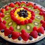 Pizza de frutas fácil
