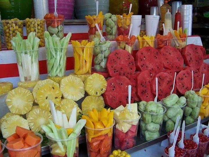 fruta pelada