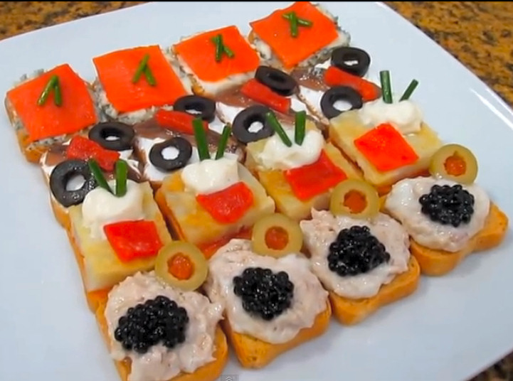 V deo recetas de canap s variados la cocina de bender for Canapes faciles y baratos
