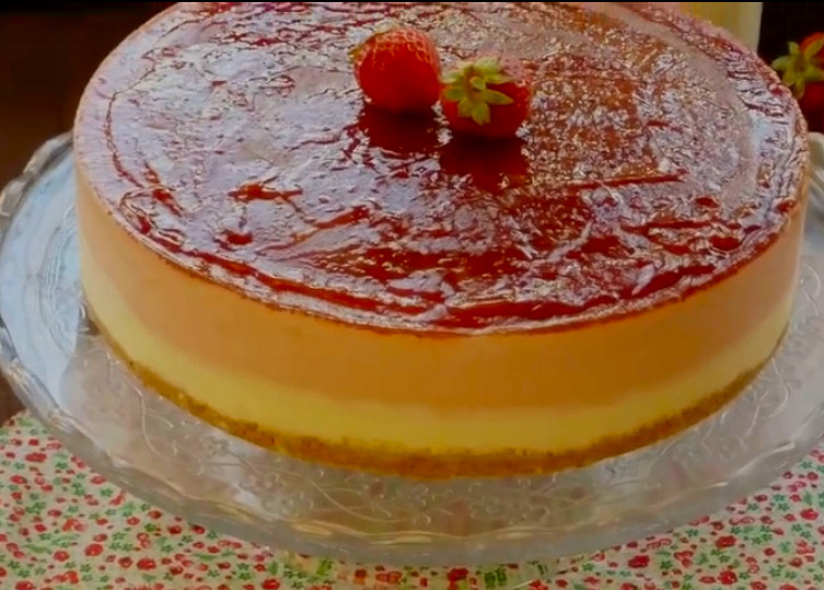 hermoso tarta de crema