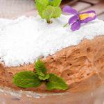 Suflé helado de chocolate