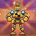 Juego de  habilidad con el robot cañón