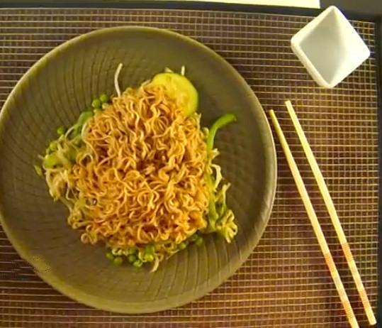 fideos chop suey verduras