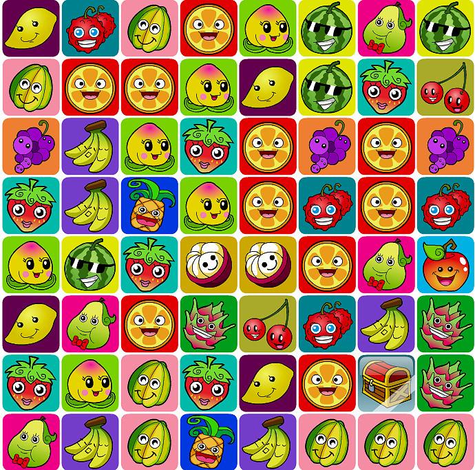 parejas frutas alegres
