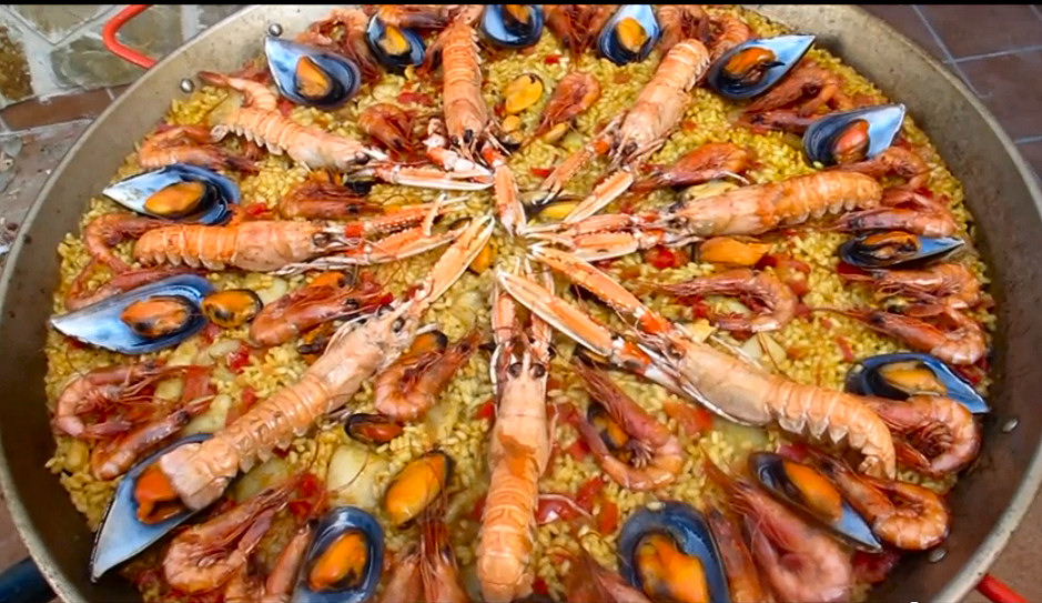 sencilla paella marisco
