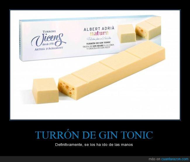 turron gin tonic