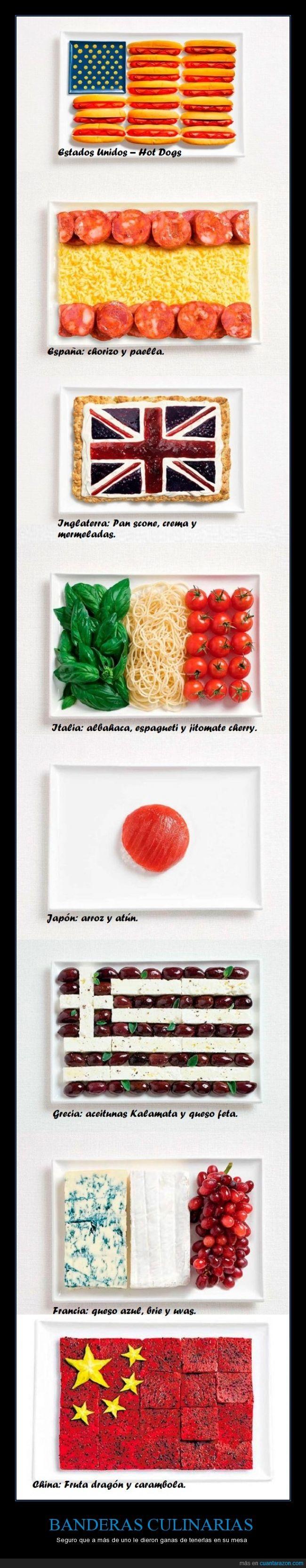 banderas culinarias