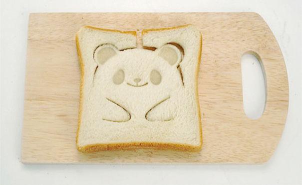 tostadas forma panda